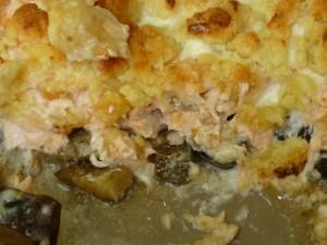 crumble saumon, aubergines, chèvre... j'adore! dans 3.Plats crumble-saumon-aubergines-chevre-300x225