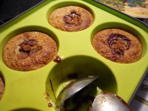Muffins au pralin coeur de chocolat dans 5.Gourmandises sucrées p1010814-300x225